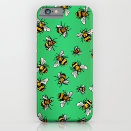 ALL DA BEES (mini) - Green iPhone Case