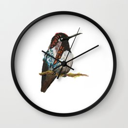 Bee Hummingbird Wall Clock