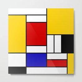 Mondrian Block Metal Print