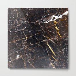 Golden Brown Granite Metal Print
