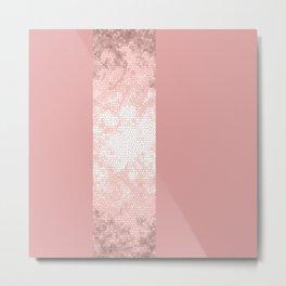 Rose gold and pink design Metal Print