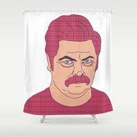 meat Shower Curtains featuring Meat Tornado by Grace Elizabeth McConnell