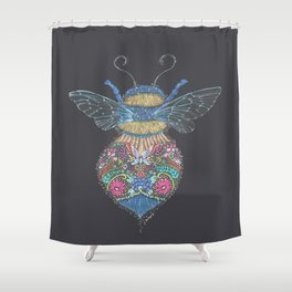 Bee Totem Shower Curtain