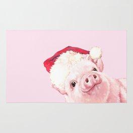 Sneaky Santa Baby Pig Rug