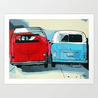 vw Art Prints featuring VW Vans by Nuno