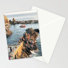 Cinque Terre rock swim Stationery Cards