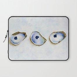 Three Oysters Watercolor by Liz Ligeti Kepler Laptop Sleeve