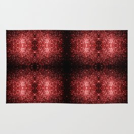 Beautiful Glamour Red Glitter sparkles Rug