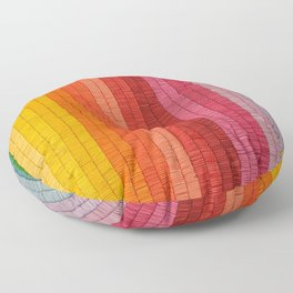 Band of Rainbows Floor Pillow