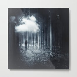 mindscape - man walking in forest Metal Print