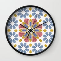 morocco Wall Clocks featuring Morocco by Vicky Webb