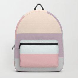 easter spring pastel color eggshell blue dusty rose blush pink stripe Backpack