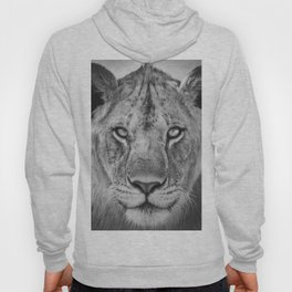 Lioness Face (Black and White) Hoody
