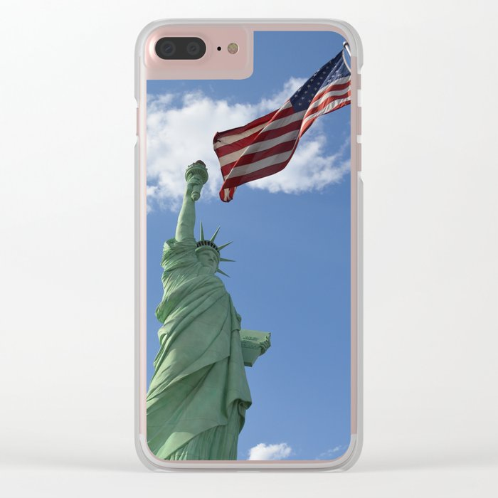 Liberty & Justice Clear iPhone Case