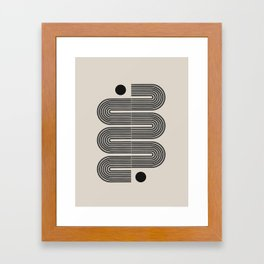Geometric Mid Century Art Framed Art Print