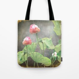 Asiatic Flowers in Pale Pink Tote Bag