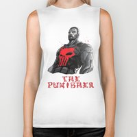punisher Biker Tanks featuring The Punisher by Prince Of Darkness