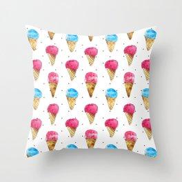Ice cream cones Throw Pillow