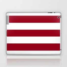 Heidelberg red[2] - solid color - white stripes pattern Laptop & iPad Skin