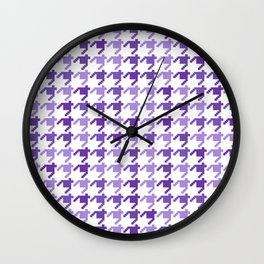 AFE Violet Houndstooth Pattern Wall Clock