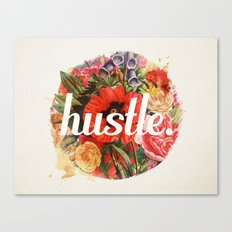 hustle. Canvas Print