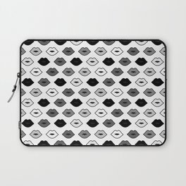 Chessboard Lips - Black and White Laptop Sleeve