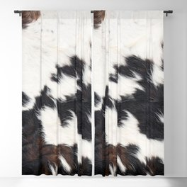 Brown Cowhide Blackout Curtain