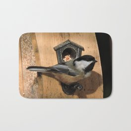 Black-Capped Chickadee at the Feeder Bath Mat
