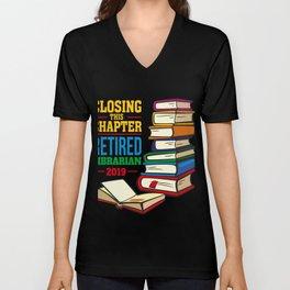Librarian  Shirt Gift Unisex V-Neck