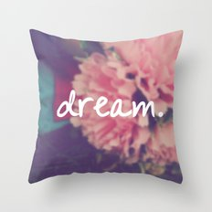fresh pink Throw Pillow