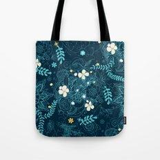 Dark floral delight Tote Bag