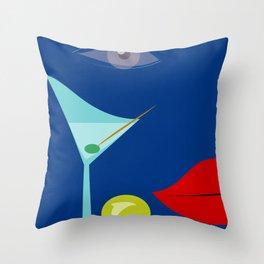 Cocktail Martini Throw Pillow