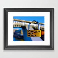 Love Locks 2012 02 Framed Art Print