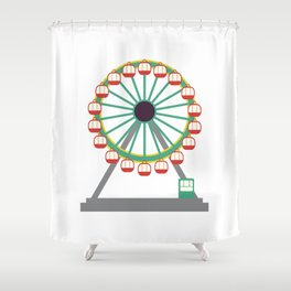 Big Wheel Shower Curtain