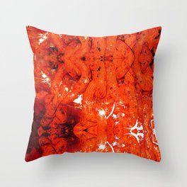 Red Abstract Art - Linked - By Sharon Cummings Throw Pillow