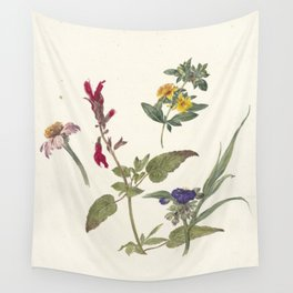 Pieter Ernst Hendrik Praetorius - Studies of wild flowers (1837) Wall Tapestry