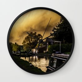No Problem at Hillmorton Locks Wall Clock