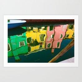 Burano Reflections Art Print