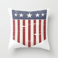 flag Throw Pillows featuring Flag by Emma Harckham