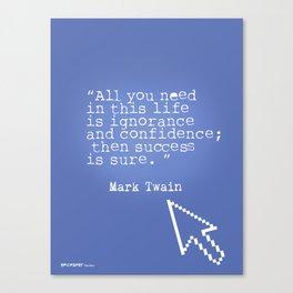 Mark Twain quote 5 Canvas Print