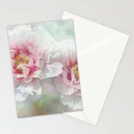 peonie love Stationery Cards