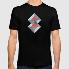 Translucent geometry blue Black MEDIUM Mens Fitted Tee