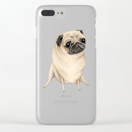 Sweet Fawn Pug Clear iPhone Case
