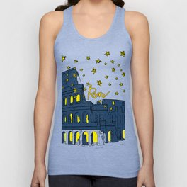 Rome Italy Colosseum Starry night Unisex Tank Top