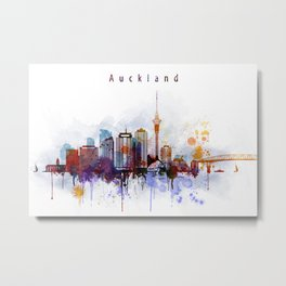 Auckland New Zealand Cityscape Metal Print