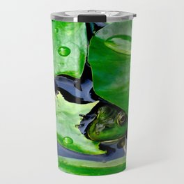 Peek  A Boo frog Travel Mug