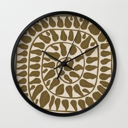 One Hundred-Leaved Plant #6 Wall Clock