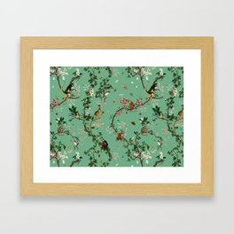 Monkey World Green Framed Art Print