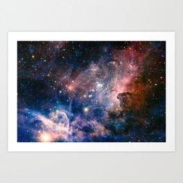 Carina Nebula's Hidden Secrets Art Print