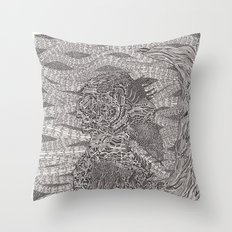 Waiting for the Knight Throw Pillow